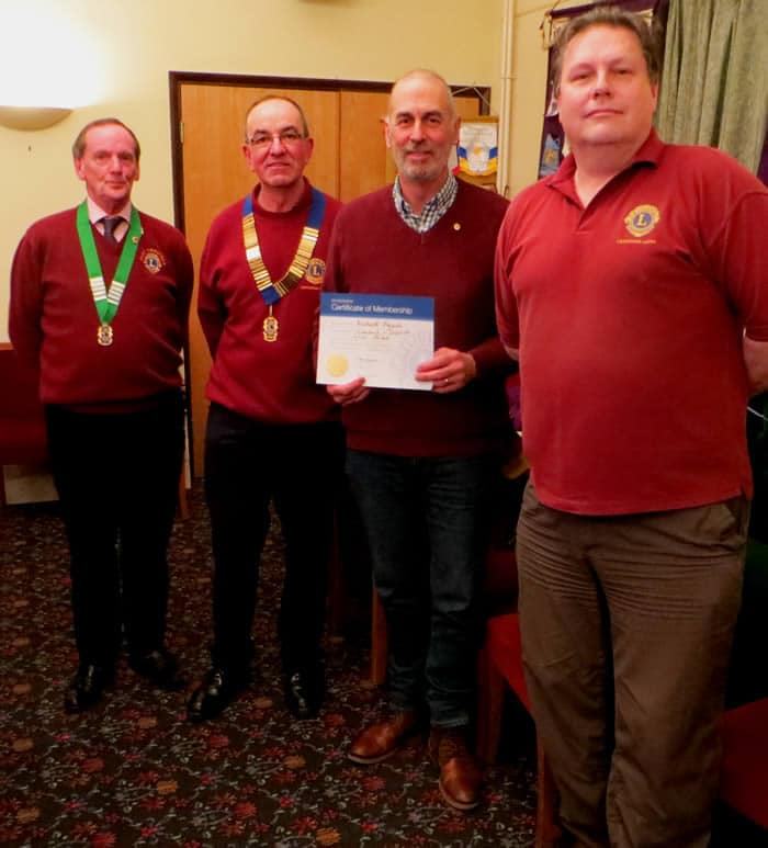 Cranleigh Lions welcome new member